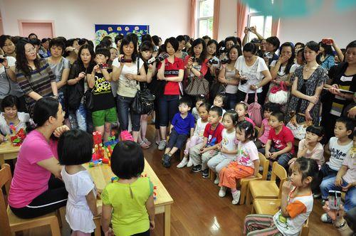 海贝幼儿园结构游戏开放活动