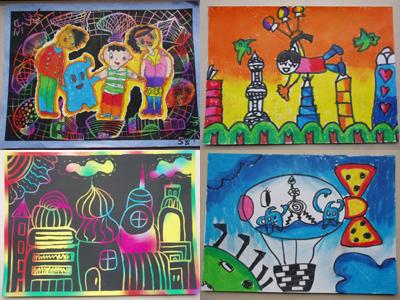 参加绘画的小朋友就有可能在参观世博会公众