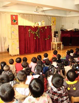 上海小主人木偶剧团来仙二幼儿园演出