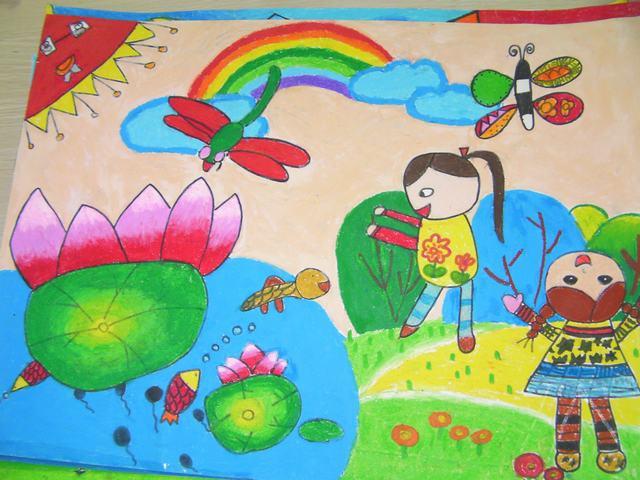 """金山豪庭幼儿园""""阳光下成长""""绘画比赛作品展示"""