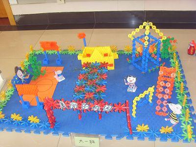 构建和谐友谊 佘山幼儿园大一班开展建构搭积木比赛图片