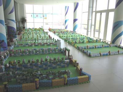 松江区新桥镇中心幼儿园开展教师建构展示活动图片