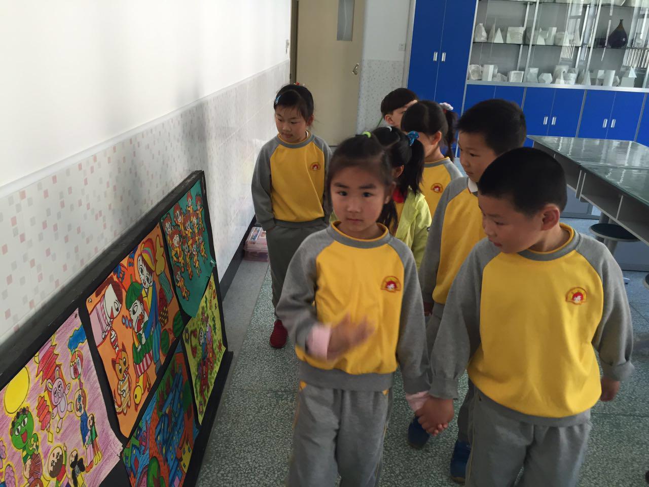 市东幼儿园大班幼儿参观小学活动报道