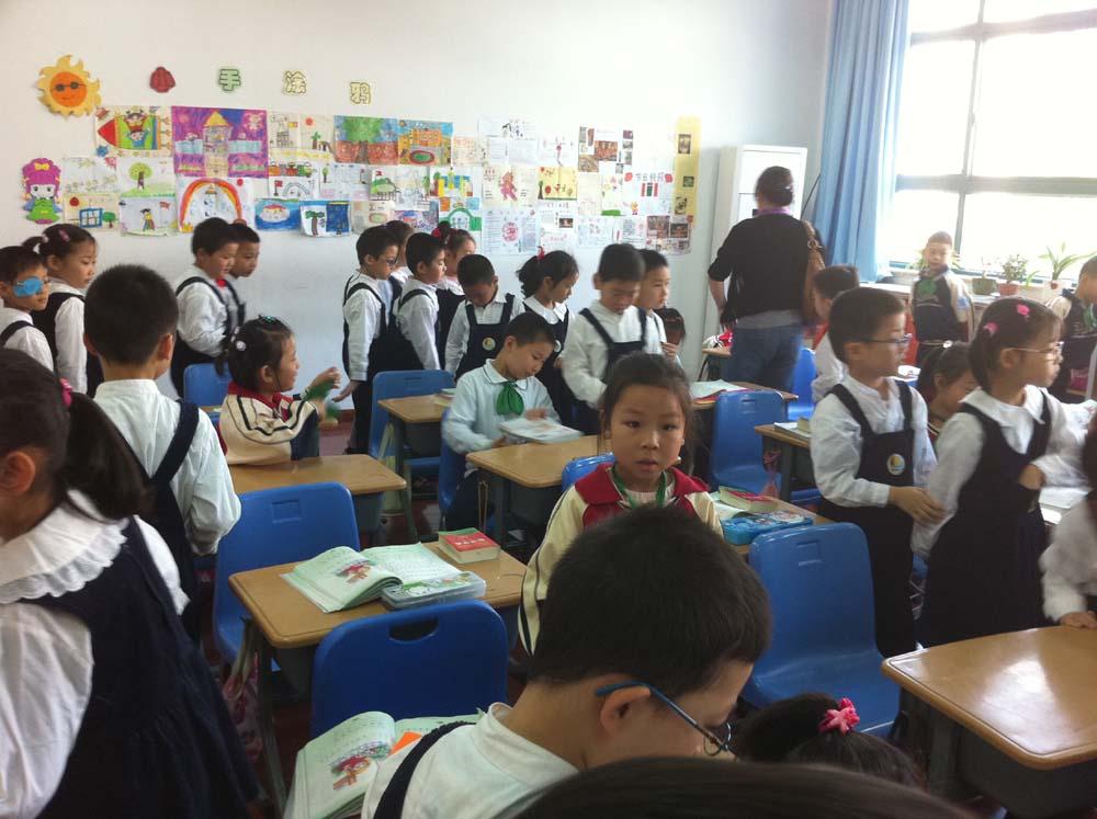 向阳幼儿园大班参观齐一小学