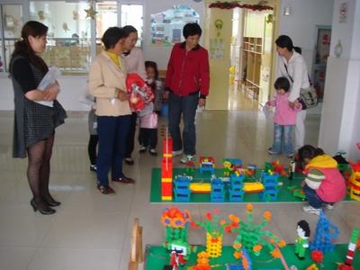 松江区蓝天幼儿园举行建构游戏作品展示活动
