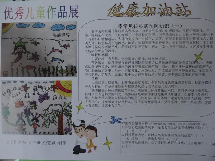 儿园发行第一期家教小报