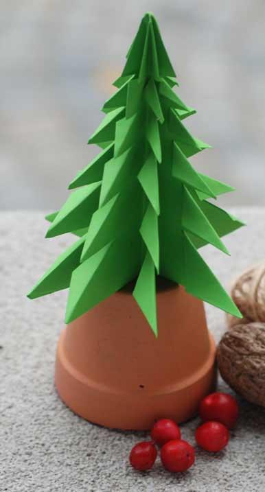亲子手工:圣诞树