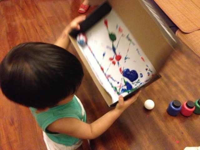 亲子游戏:一次涂鸦两件艺术品 - 香桂小一班 - 听幼小一班