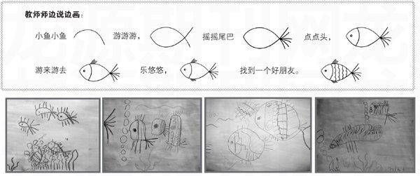 朋友小班:鱼儿找美术-+上海学前教育网我们一起去游园说课ppt图片