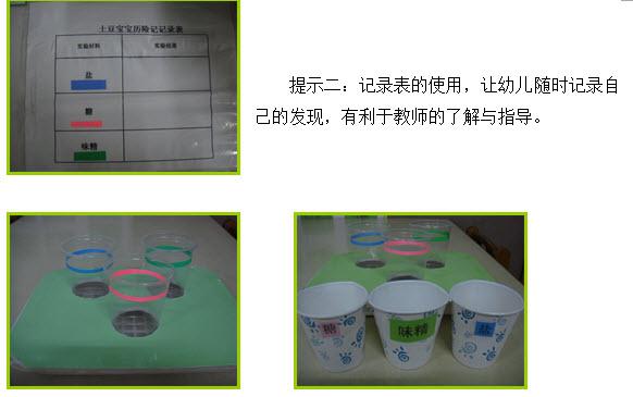 幼儿园大班科学活动区材料的提供与利用 --大班科学区活动《土豆宝宝历险记》中的感悟 来源:上海学前教育网时间: 2013-5-24 作者: 宋超越 单位:奉贤区解放路幼儿园 导读:在幼儿的眼中对周围生活的一切发生着探索的兴趣,在幼儿园的科学活动中,每天都会发生令人惊讶的大发现,本文通过探讨幼儿园科学活动区中如何适宜地提供与利用科学活动材料,让孩子们玩得开心,学的有效,充分发挥科学活动区的作用,促进幼儿主动地与材料互动,调动幼儿的积极性,从中体验发现的乐趣,激发探究的欲望,使幼儿的探索活动更加深入,获取丰富