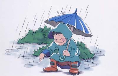 在雨中行走 - 上海学前教育网