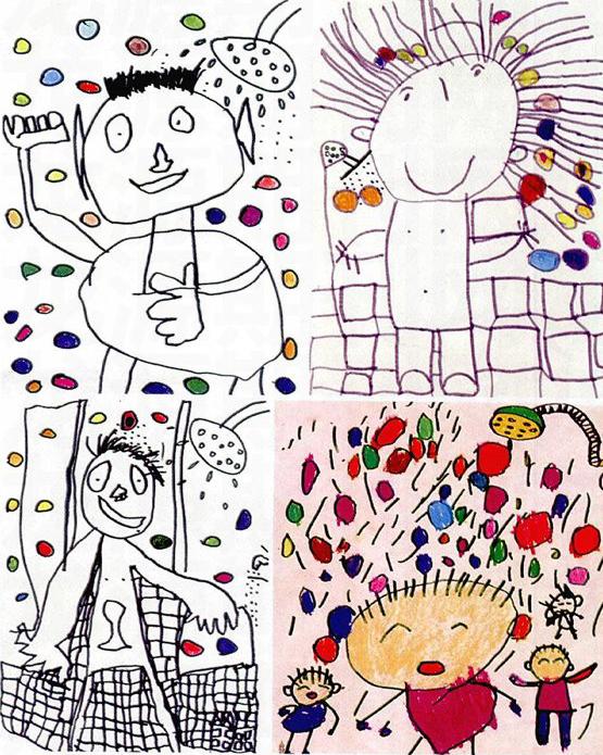 小班美术:我爱洗澡图片