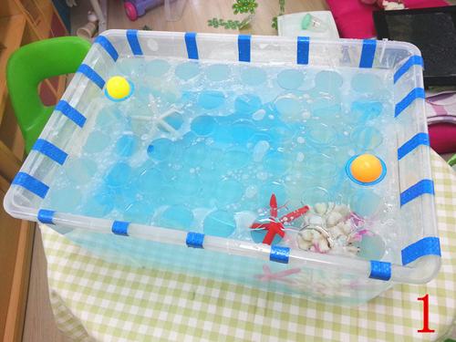 幼儿园自制玩教具:弹力水球