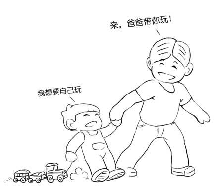爸爸骑车带孩子简笔画