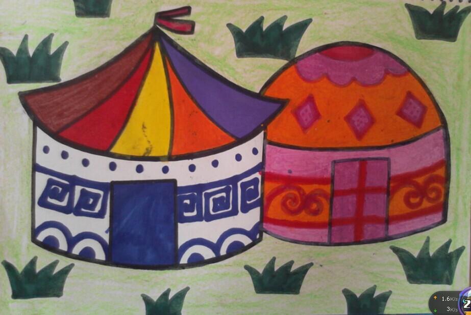 六年级儿童画大全图片 新年儿童画画图片图片