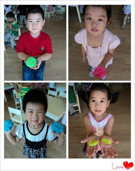 幼儿园橡皮泥手工制作月饼