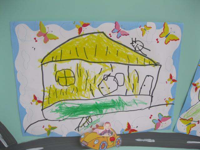 幼儿园图画房子图片