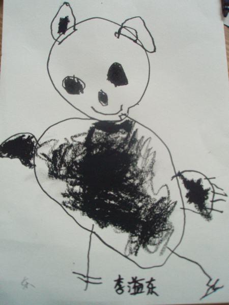画一画可爱的大熊猫