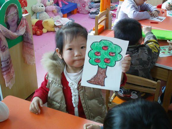 画画苹果树