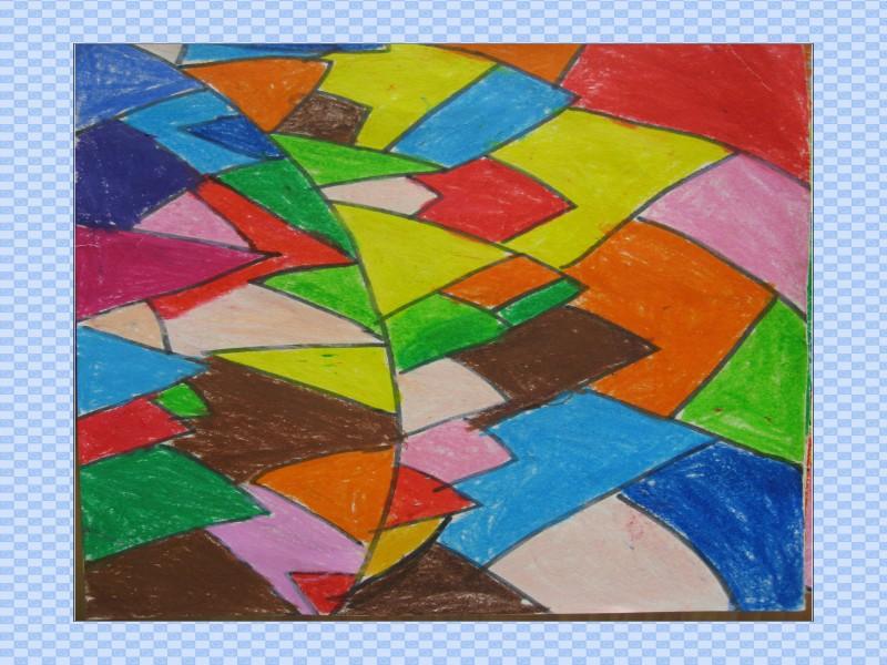 幼儿作品 美丽的五彩纸