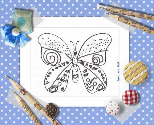 蝴蝶线描画范画图片展示