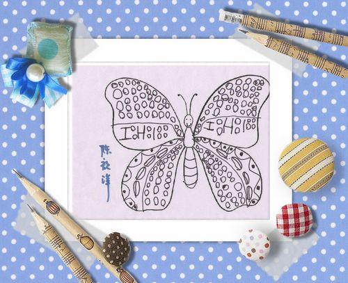 线描画:美丽的蝴蝶