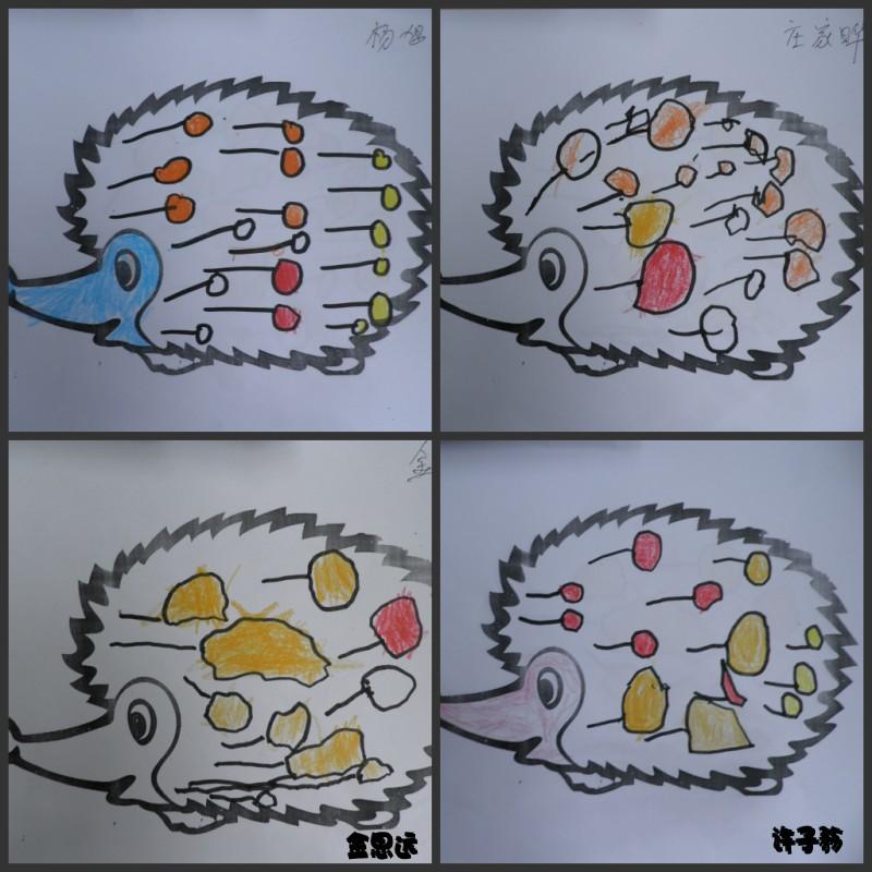 刺猬图片 可爱 儿童画