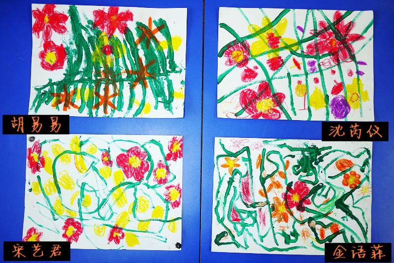 大花朵儿童画画