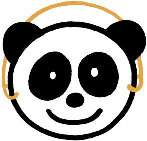 动物头饰简笔画熊猫