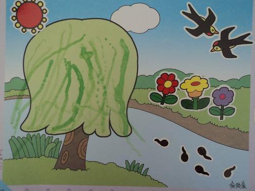 春天柳树和燕子内容春天柳树和燕子版面设计