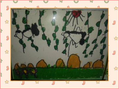 园所主页 班级主页 12毕业班大1 幼儿作品  本月主题:春天来了,小燕子