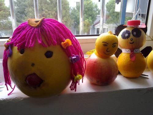 亲子制作 水果娃娃