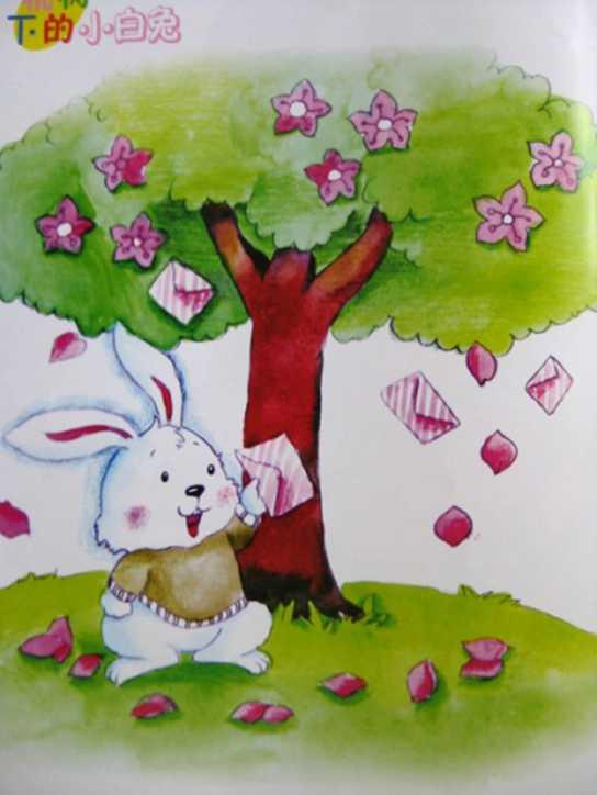 故事——桃树下的小白兔