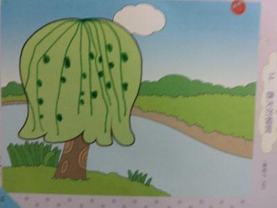 《柳树姐姐》这节活动是使幼儿初步尝试用点线组合画