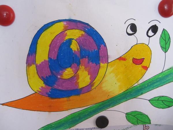 幼兒園畫畫圖片大全蝸牛
