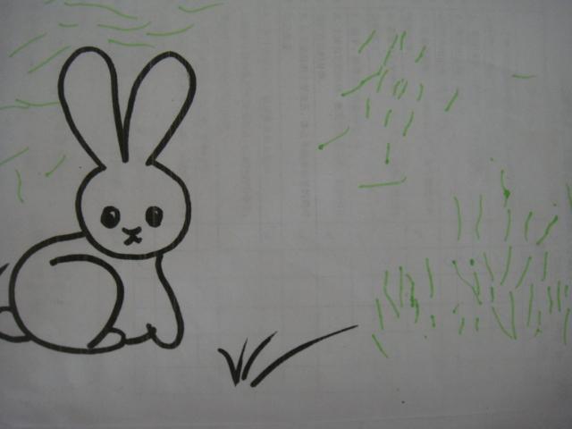"""""""小白兔乖,我来喂你吃青草!&#8221"""