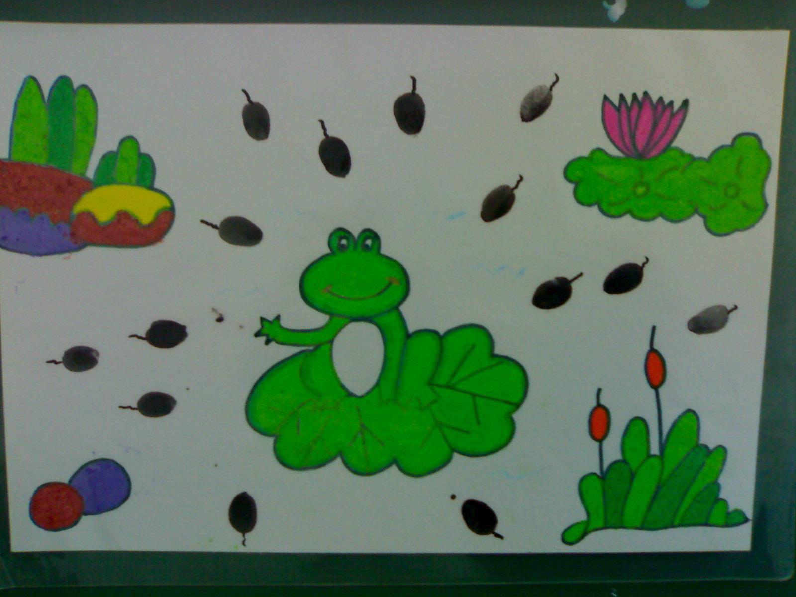 青蛙和小蝌蚪简笔画内容青蛙和小蝌蚪简笔画图片