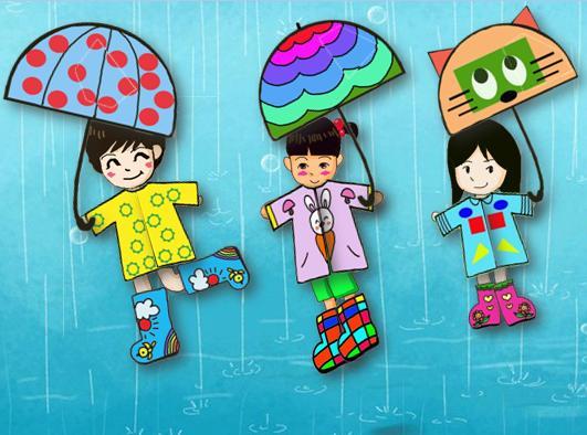 下雨穿雨鞋图片
