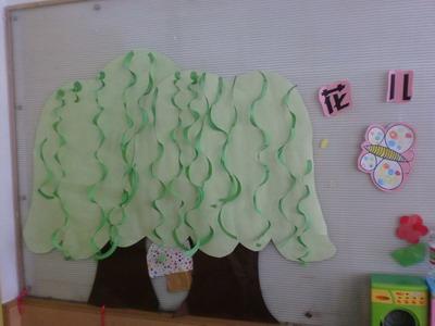 """春天的柳树 棉签画""""柳树"""""""