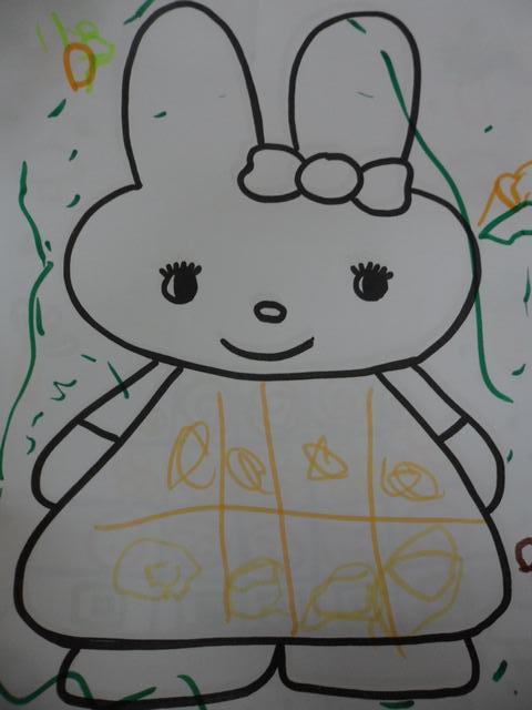 可爱的小兔子在跳的简笔画