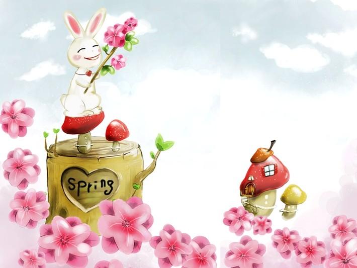 小白兔儿一跳一跳又一跳