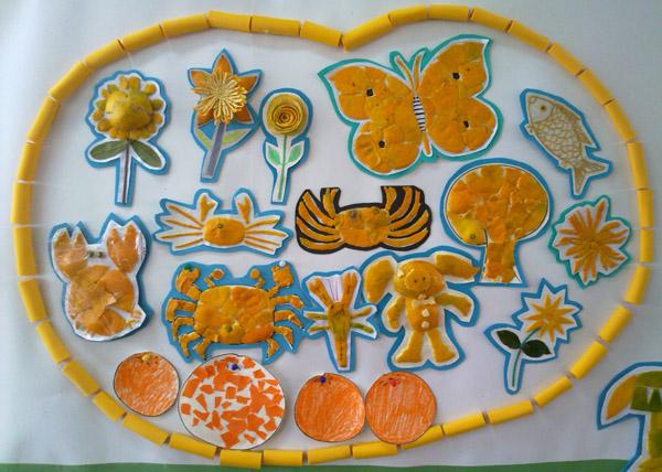 亲自作品 橘子皮贴画
