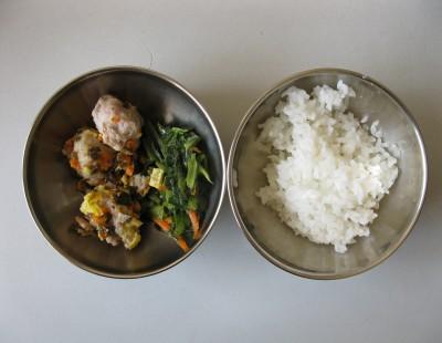 头糖醋海带丝、三鲜豆腐汤.-中一班