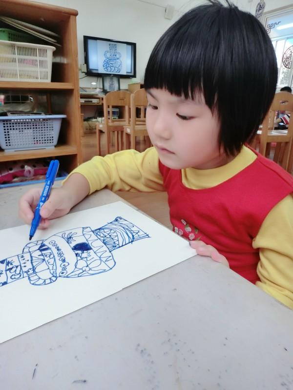 中班时学过的线描画技能