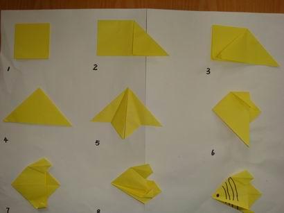 小鱼怎么折纸图解