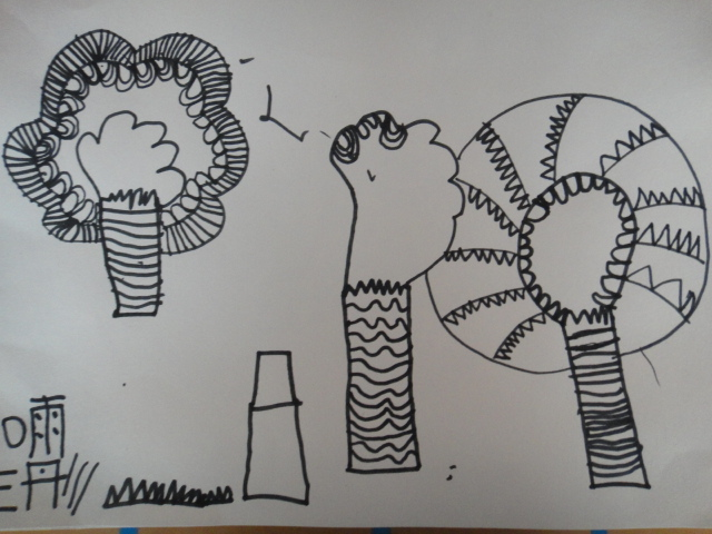 园所主页 班级主页 大三班 宝贝作品  树林风景画——王雨彤