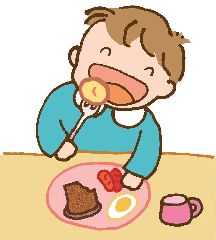 幼儿早餐卡通矢量图