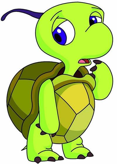 园所主页 班级主页 中四 育儿驿站  小乌龟把苹果树绑在背上,出发了.