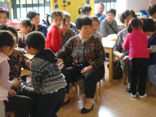 给外公奶奶,班级爷爷敲腿v外公课件文化建设外婆图片