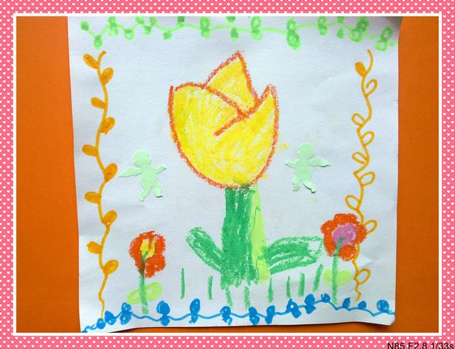 幼儿简笔画春天的花-春天的花园主题简笔画,春天花朵-春天的幼儿园
